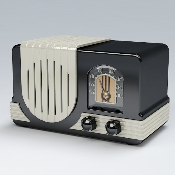 3d model radio antique
