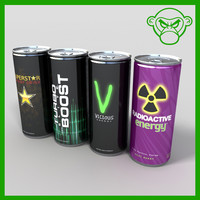 3d model energy drinks