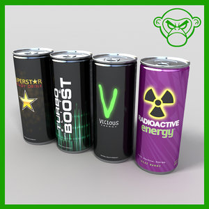 3d model energy drinks