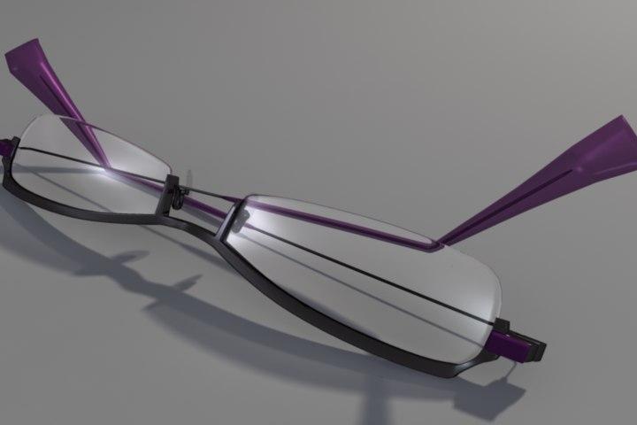 3d model of glasses modern hip