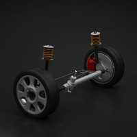 3d model of wheel suspension