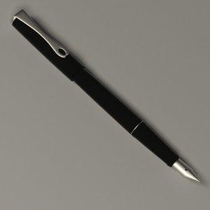3d luxury pen model