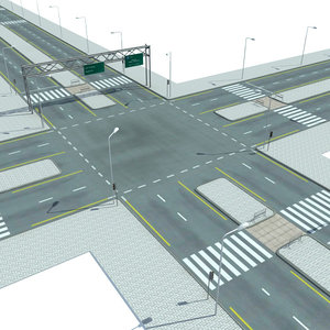 streets roads highways collections 3d max