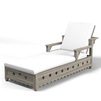 3d model of oriental chaise lounge