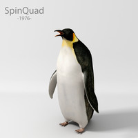 3d model penguin animation