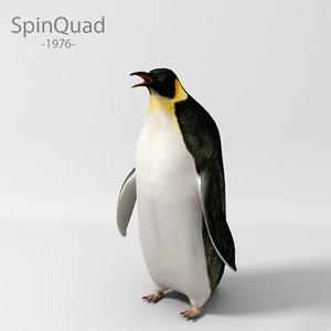 3d model penguin animation