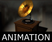 gramophone animated