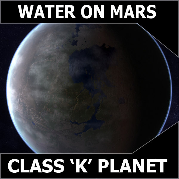 3d mars water class k model