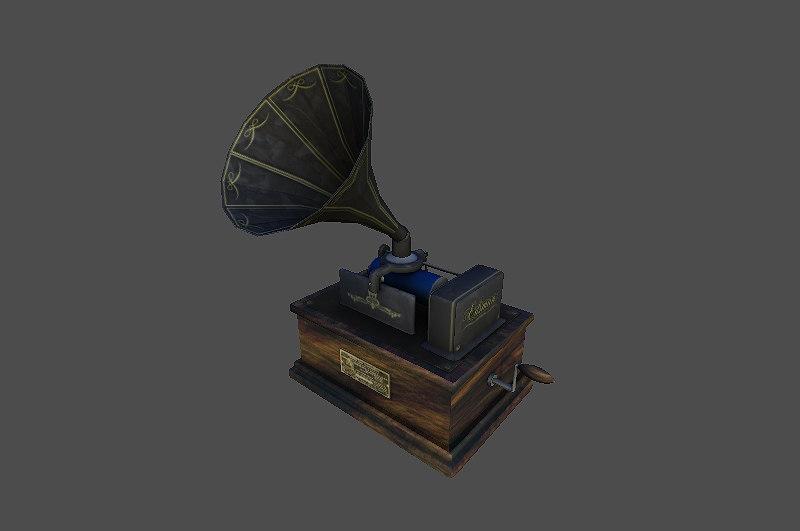 3dsmax phonograph