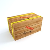 3d model wooden storage crate