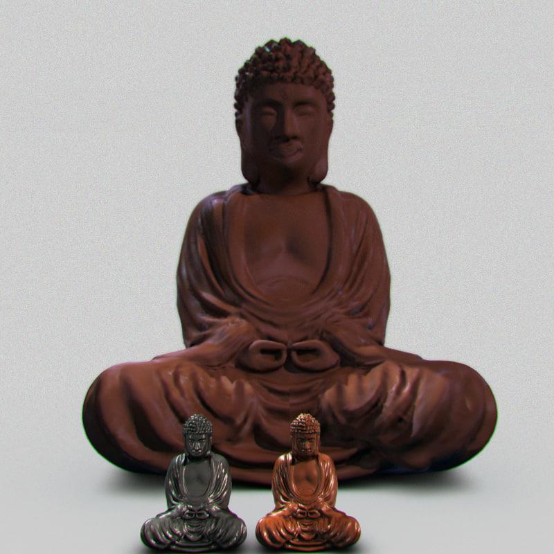 3ds max statue buddha