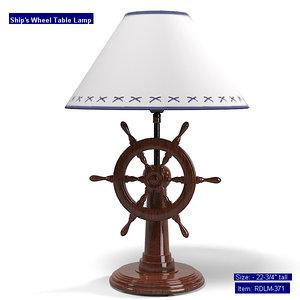 robinsdocksideshop rdlm-321 table lamp 3d model