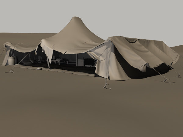 3d bedouin tent