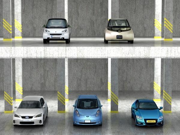 3d 5 city cars hybrid