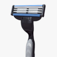 razor gillette mach 3 3d model