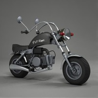 3d minichopper chopper bike model