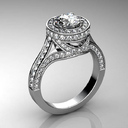 engagement ring 3 obj