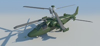 kamov helicopter - 3d model