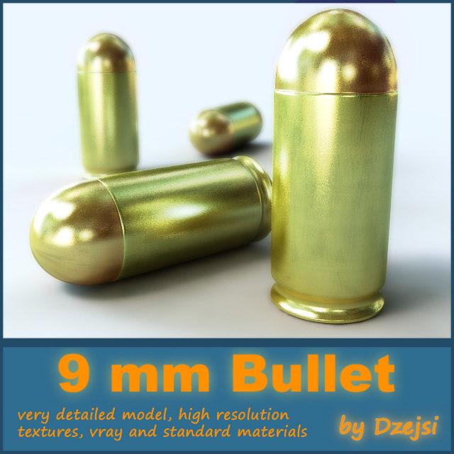 3ds max 9 mm bullet