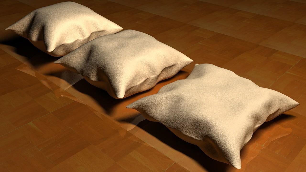 3 cushion c4d