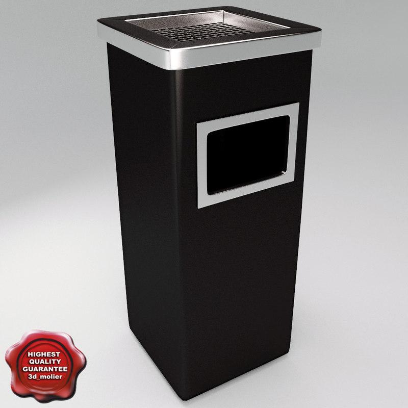 3d max ashtray bin
