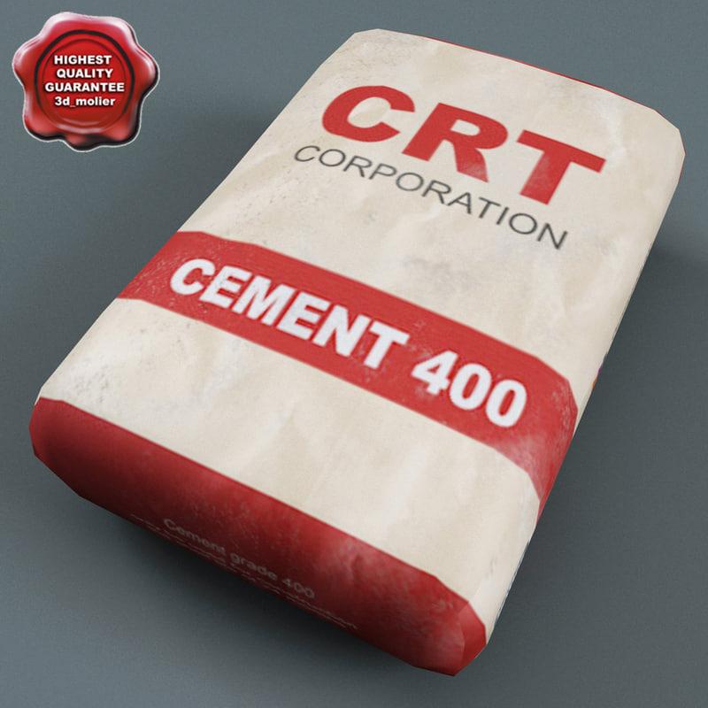 cement bag 3d 3ds