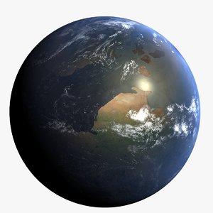 3d cretaceous earth early model