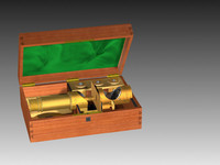 1855 french microscope 3d model