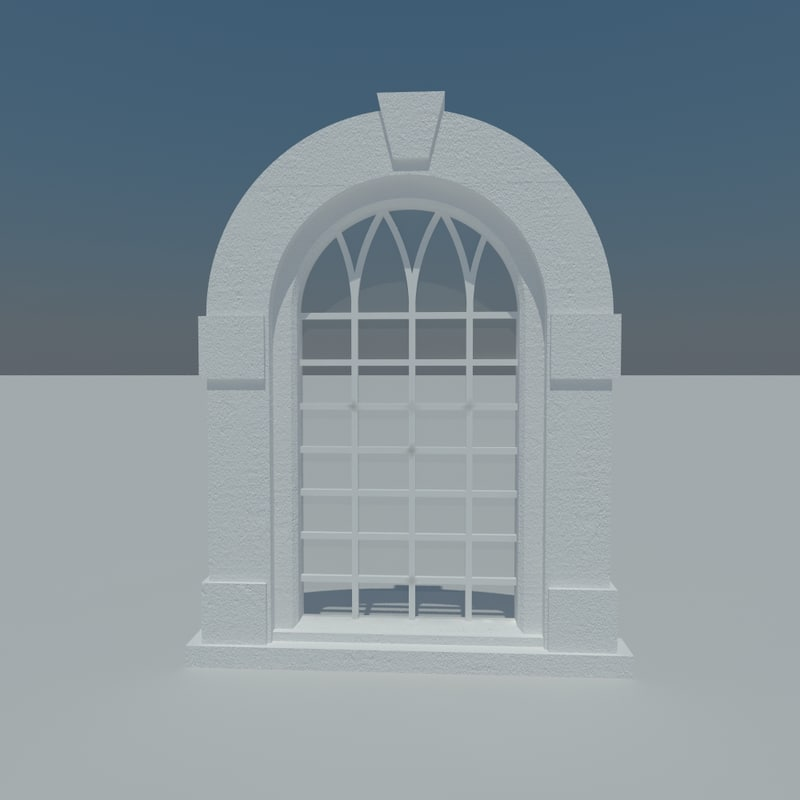 radius window 3d 3ds