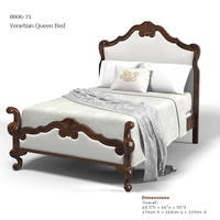 HICKORY CHAIR 8807-21 venetian queen bed classic bed luxury king size high back headboard  hand carved