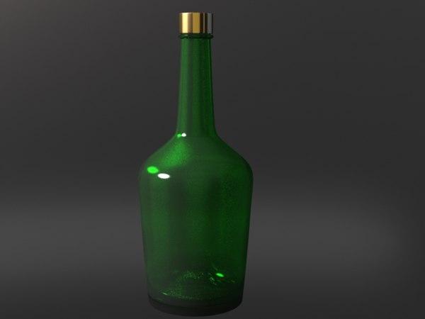 3dsmax wine liquor bottle