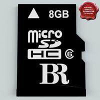 3d memory card micro sd model