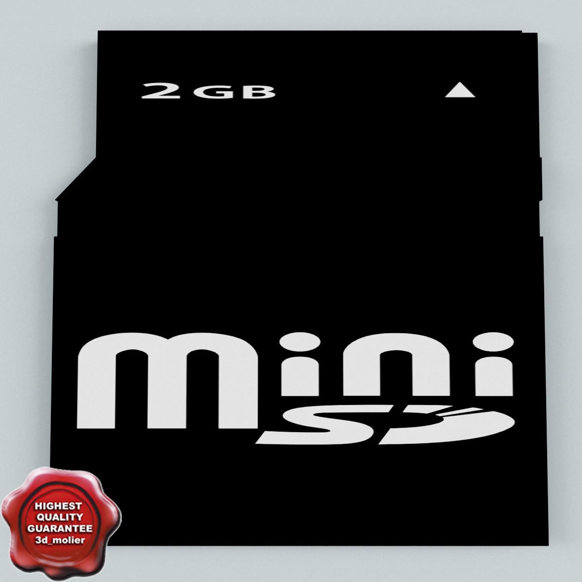 memory card sd mini 3d c4d