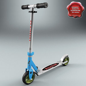 3d micro scooter model