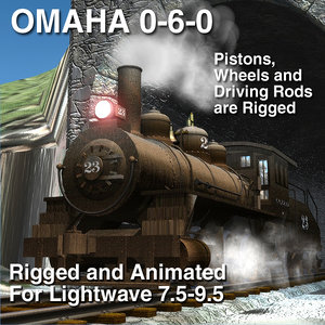 3d model omaha 0-6-0 rigged update