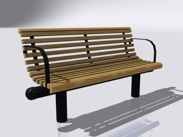 games bench 3d model