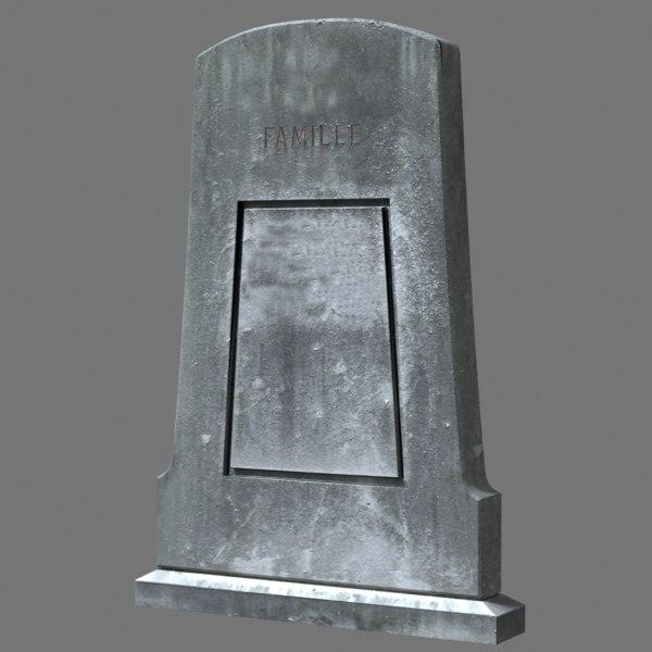 3dsmax tombstone dug