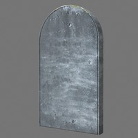 3d tombstone dug model