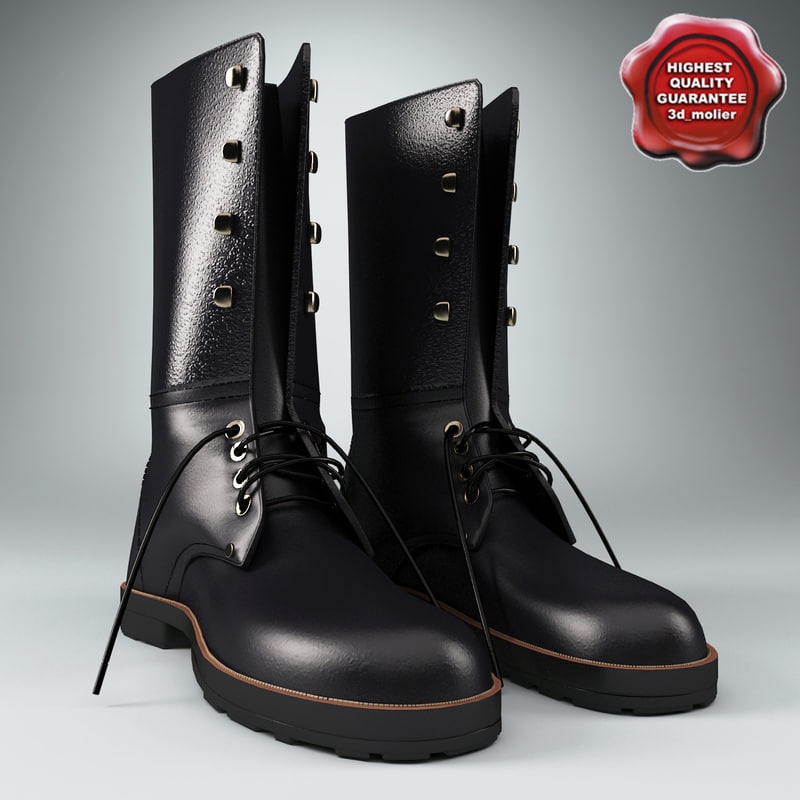 3ds max soldier boots v4