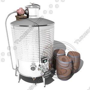 fermentation wine tank 3d max