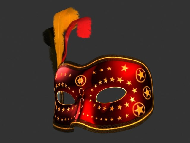 venetian mask 3d max