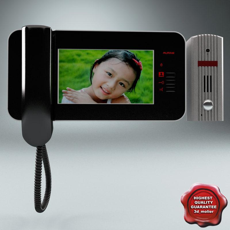 video intercom 3d obj