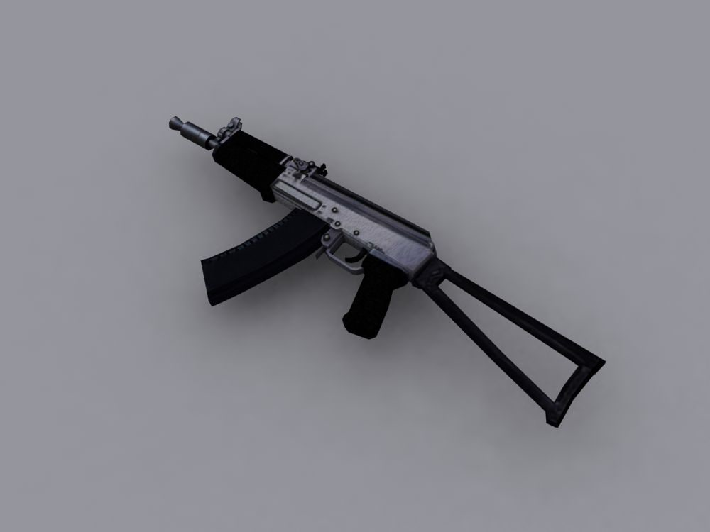 3ds max aks 74 rifle