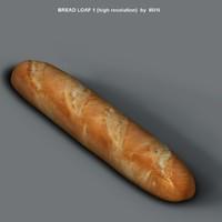 loaf bread 3d obj