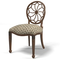 century web  back classic dining chair round back