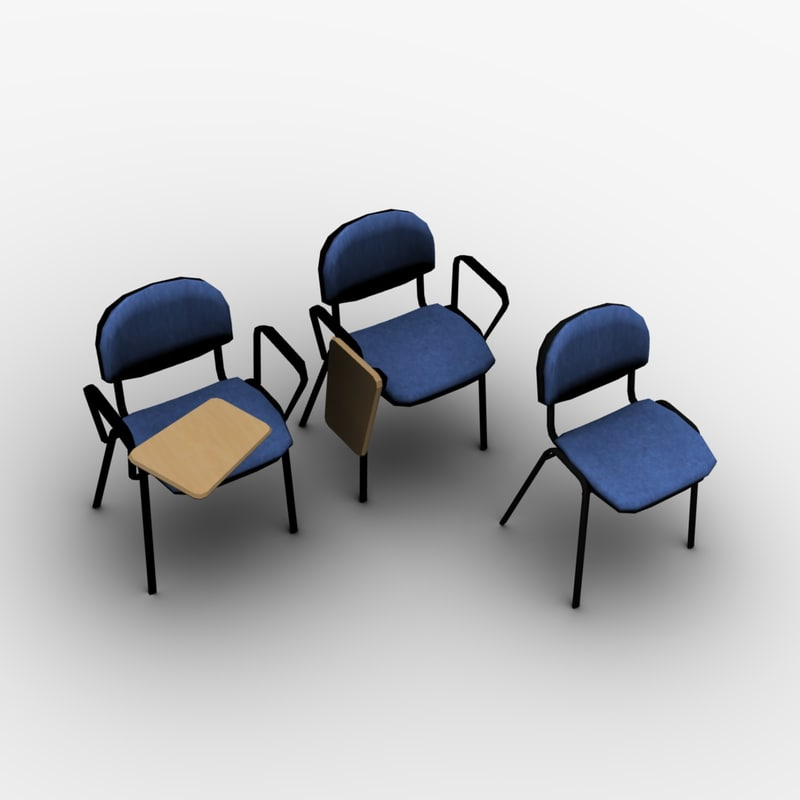 free obj model office chairs