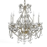 CHABBY CHIC CLASSIC CRYSTAL CANDLE SIMPLE 5 classic traditional provence crystal glass swarowski canle light chandelier suspension pendant