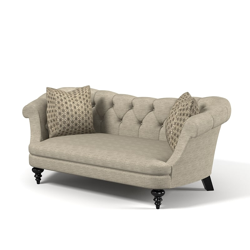 3d model of classic traditional tufted
