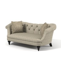 Classic traditional tufted sofa