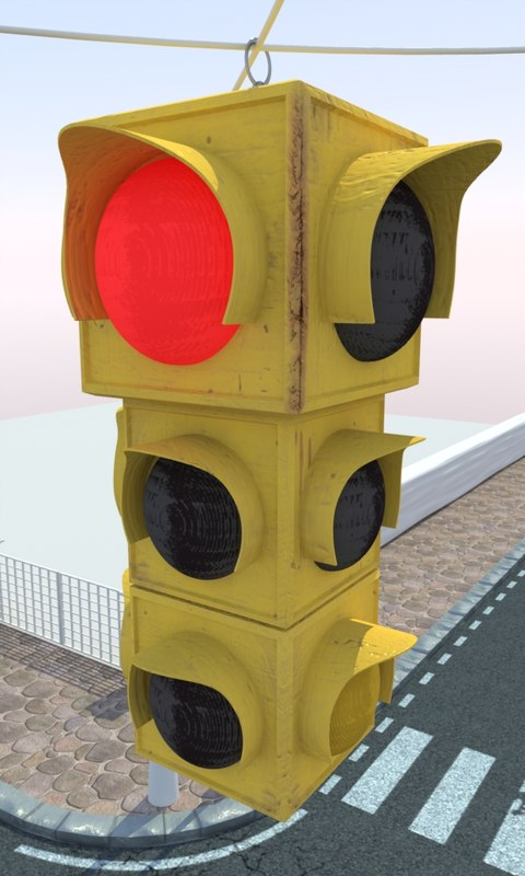 traffic light 3d obj